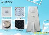 réverbère intelligent du détecteur solaire DEL de la vente 80W chaude
