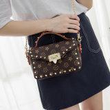 有名なブランドデザイナー女性メッセンジャー袋の女性のリベットのハンドバッグLV