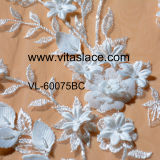 Elfenbein 3D Flower Rayon Lace Fabric Vl-60070bc