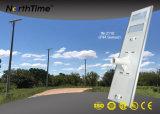 Éclairage extérieur IP65 3 ans de garantie de réverbère solaire intelligent