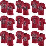 Abitudine rossa del pullover di football americano di sbalzo dell'elite di Atlanta Matt Ryan Matt Bryant Deion Jones Taylor Gabriel dei bambini dei capretti delle donne del Mens qualsiasi nome qualsiasi numeri