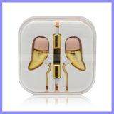 Fone de ouvido baixo Earpod de Hearphone do estilo da orelha com controle de volume para o telefone móvel Headst do iPhone de Samsung com Mic