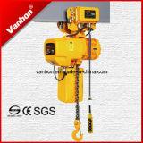 1.5ton электрическая таль с цепью, электрическая лебедка подъема двойной скорости с вагонеткой