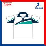 Healong 중국 공장 가격은 판매를 위한 승화 남자의 폴로 셔츠를 입는다