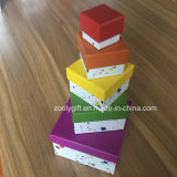 Customized Printing Nesting Paper Box Sets Public garden Shaped Gift Boxings