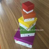 La impresión personalizada Caja de papel de anidación, se establece de forma cuadrada cajas de regalo