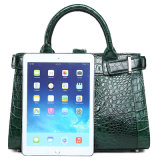 Горячие продажи бренда дизайн зеленым цветом кожи аллигатора кожаный мешок с сертификат СИТЕС