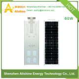 60W Super brillante Productos de energía solar integrado Calle luz LED