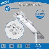 100W solare tutti in un indicatore luminoso di via con il sensore di movimento