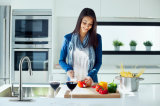 Robinet de cuisine en laiton avec pulvérisateur à double fonction