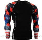 Le modèle neuf équipe T-shirt de chemise de formation Anti-UV de pull le long