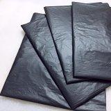 Большой черный пластиковый для тяжелого режима работы подрядчика мусорный мешок мешок для мусора