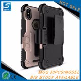 iPhone Xのため、高い保護中国ベルトクリップホルスターの耐震性の携帯電話の箱カバー