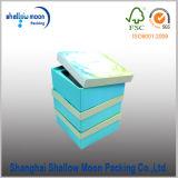Коробка косметического подарка печатание Cmyk голубой бумаги упаковывая (QY150225)