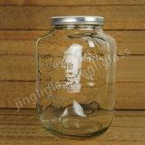Grand choc carré en verre de choc de maçon de sucrerie de forme/miel de mémoire