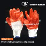 K-84ポリエステルまたはナイロンPVCによって塗られる働く手袋