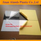 0,5Mm interior rígido PVC adhesivo de doble hoja con el paquete de papel amarillo