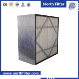 Средств ящичный фильтр синтетического волокна с поддержкой металла