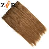 Natural de color marrón dibujado el mongol Secador de cabello humano trama pelo Remy