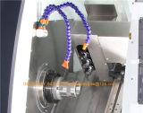 Окраску кровать турели обрабатывающего инструмента и токарный станок с ЧПУ Tck46D-8 для резки металла при повороте