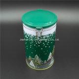 Boîte en étain ronde pour thé / café avec design de Noël (D001-V1)