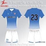 Healong Diseño fresco el engranaje de ropa de poliéster 100% de los estudiantes de sublimación uniformes de fútbol