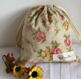 Durable Drawstring Gift Sac de shopping en coton naturel