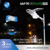 del jardín solar de la calle del sensor 15W luz LED nueva