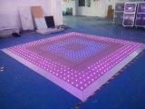 Azulejo de suelo video del RGB Dance Floor LED para el partido de la etapa de la boda