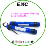 Battery Factory 2p 18650 bateria de lítio de 7.4V 2000mAh