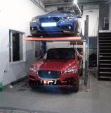 Sistema di parcheggio della pila dell'impilatore del doppio dell'elevatore idraulico dei due alberini