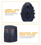 2 Soquetes de conversão USB Mundo Multifuncional plugue adaptador de viagem