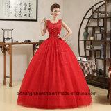 Elegantes Hochzeits-Kleid ohne Hülseapplique-Blitz-Hochzeits-Kleid