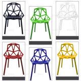 Cadeira de jantar plástica Stackable colorida do projeto moderno