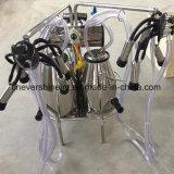 La máquina de ordeño de vaca eléctrico cucharas de doble doble de los pulsadores