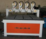 Ranurador de madera del CNC de 8 ejes de rotación multi de las pistas para la venta