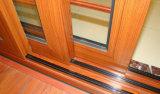 Porte coulissante en aluminium à double vitrage standard d'Australie