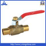 Valvola a gas d'ottone di controllo con la maniglia del ferro (YD-1013)