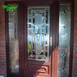 A madeira maciça cedido Manafacturers Portas Porta de madeira de PVC