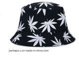 Caçamba de bordas Flouncing Hat com Maple Leaf Imprimir