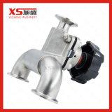 Válvulas de diafragma pneumática manual em aço inoxidável Dn25 Stainless Steel Hygienic