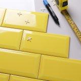 4*8inch/100*200mm Jaune citron glacé mur vitré conique Salle de bains carrelage Métro