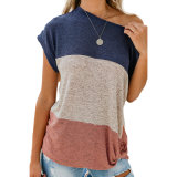 Les femmes de gros bloc de couleur desserrés Jaxon Twist T-shirts