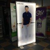 Square étanche de la publicité intérieure et extérieure en aluminium Ultra Slim Boîte à lumière