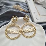 Círculo Orelha Retro pregos 925 Prata brincos de estilo de moda