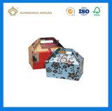 Rectángulo de empaquetado de la insignia de la impresión de la cartulina del aguilón de encargo del portador (con la ventana del PVC)