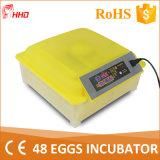Di Hhd incubatrice automatica dell'uovo di quaglie in pieno piccola per 48 uova
