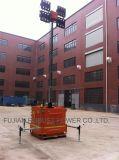 Tour d'éclairage mobile de DEL avec le constructeur hydraulique de mât de 7m