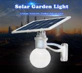 Guangzhou Factory 360 degrés lumière solaire LED Moon All-in 30W éclairage solaire de jardin LED
