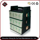 Rectángulo de empaquetado reciclado de la cartulina de encargo material de la impresión con el sellado de la insignia
